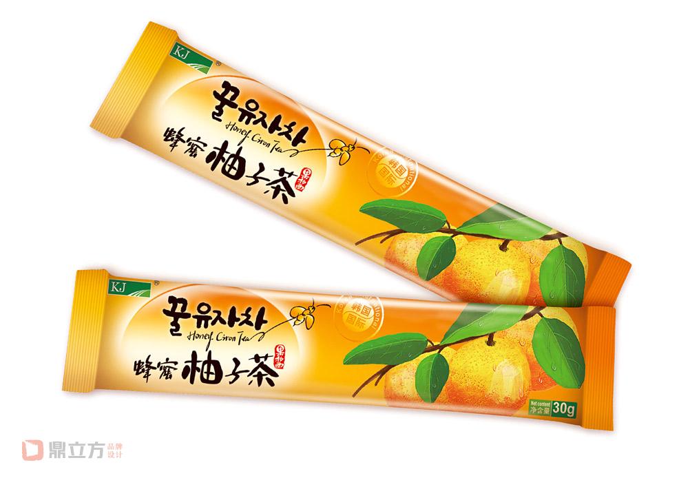 韩国kj蜂蜜柚子茶包装设计